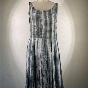Viviana Uchitel Silk aquarelle Midi Dress Sz 1 NWT